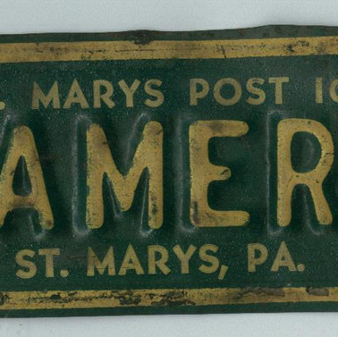 St. Marys Post 103 License topper