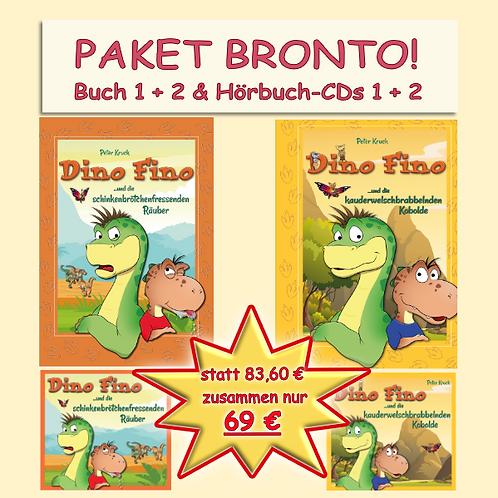 """MAXIMUM! Kombi-Paket """"Bronto"""": Buch 1 und 2 gedruckt und als Hörbücher auf 8 CDs"""