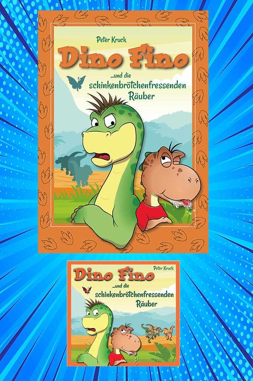 Komplettpaket Dino Fino Teil 1: Buch und Hörbuch auf drei CDs