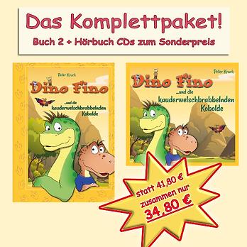 Komplettpaket Dino Fino Teil 2: Buch und Hörbuch auf fünf CDs