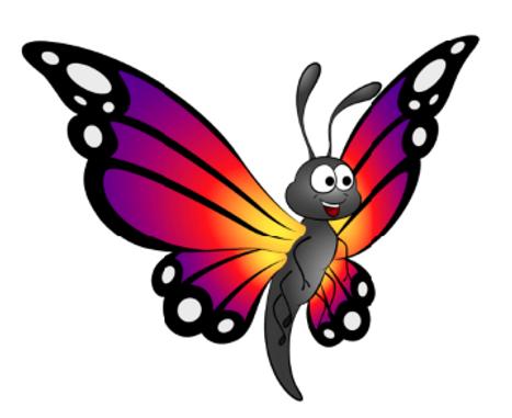 Waldemar, der Schmetterling - der beste Freund von Dino Fino