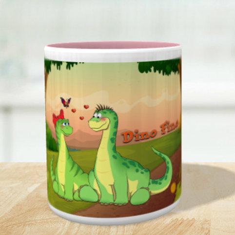 Tasse Dino & Sauriah m. Hintergrund