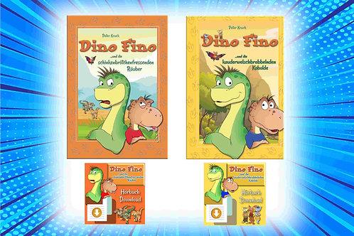 """PREISHAMMER! Kombipaket """"T-Rex"""": Buch 1 + 2 gedruckt und als Download- Hörbucher"""