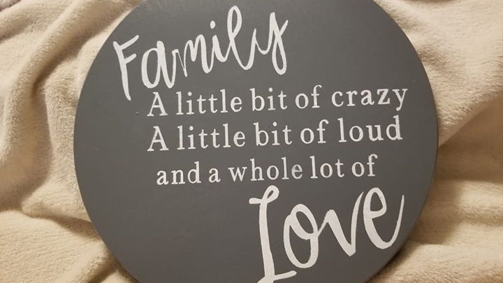 Crazy Family sign
