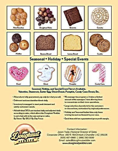 top selling doughnut flyer