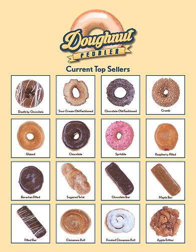top selling doughnut flyer