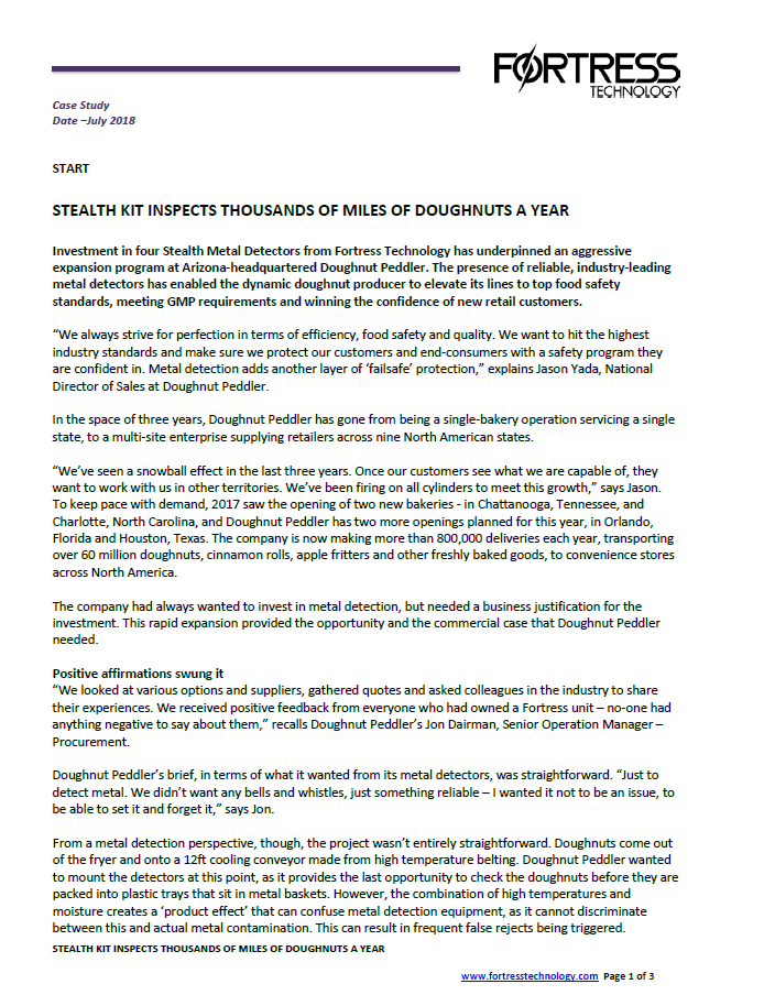fortress technology press release