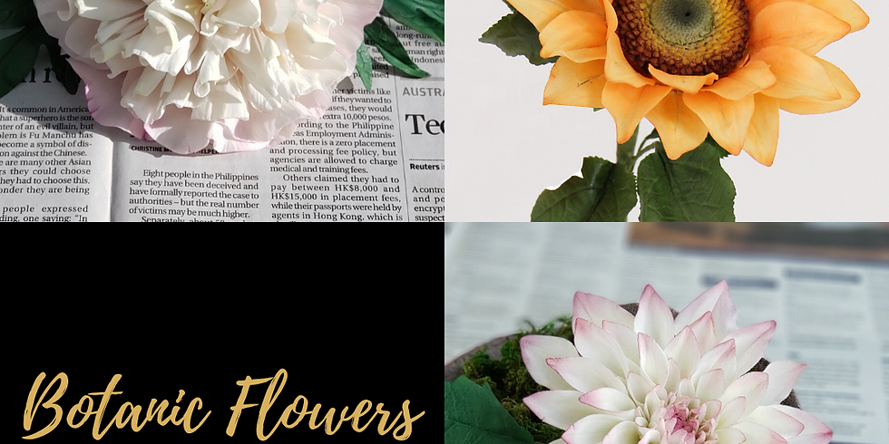 3-Day Course - Botanic Flowers - PME 5 Star Sugar Artist Course