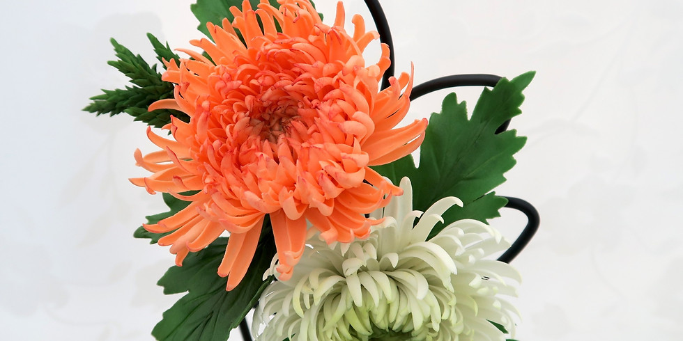 Chrysanthemum - Gum Paste Flower Class