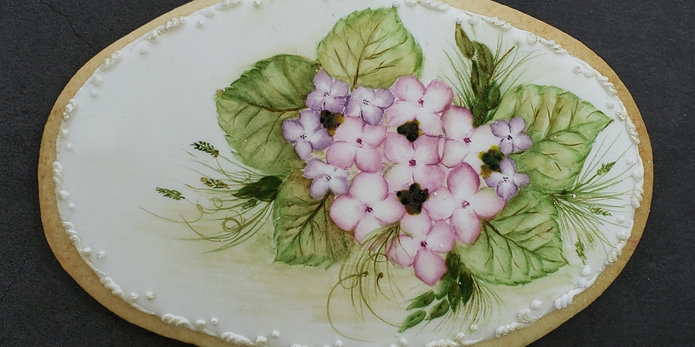 Hydrangea Painting Cookie