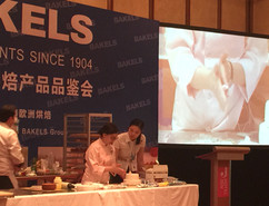Demonstration at Bakels Product Meetings in Harbin China.