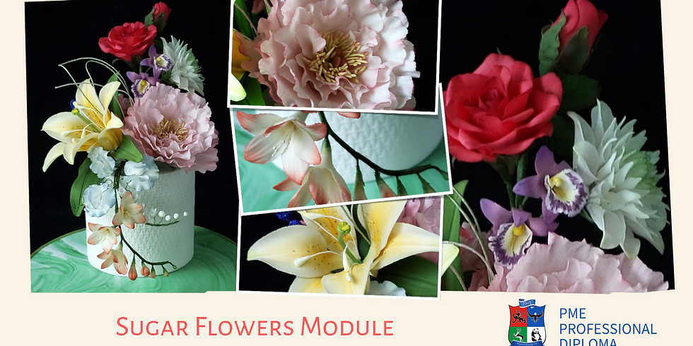 4-Day Intensive Course - PME Diploma - Sugar Flowers Module