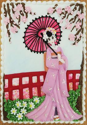 Sakura Girl Cookie