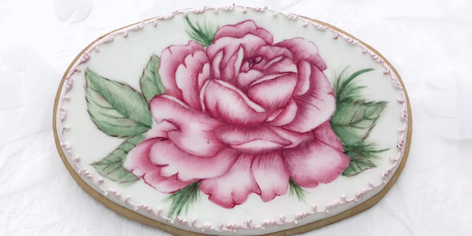 Rose Painting Cookie