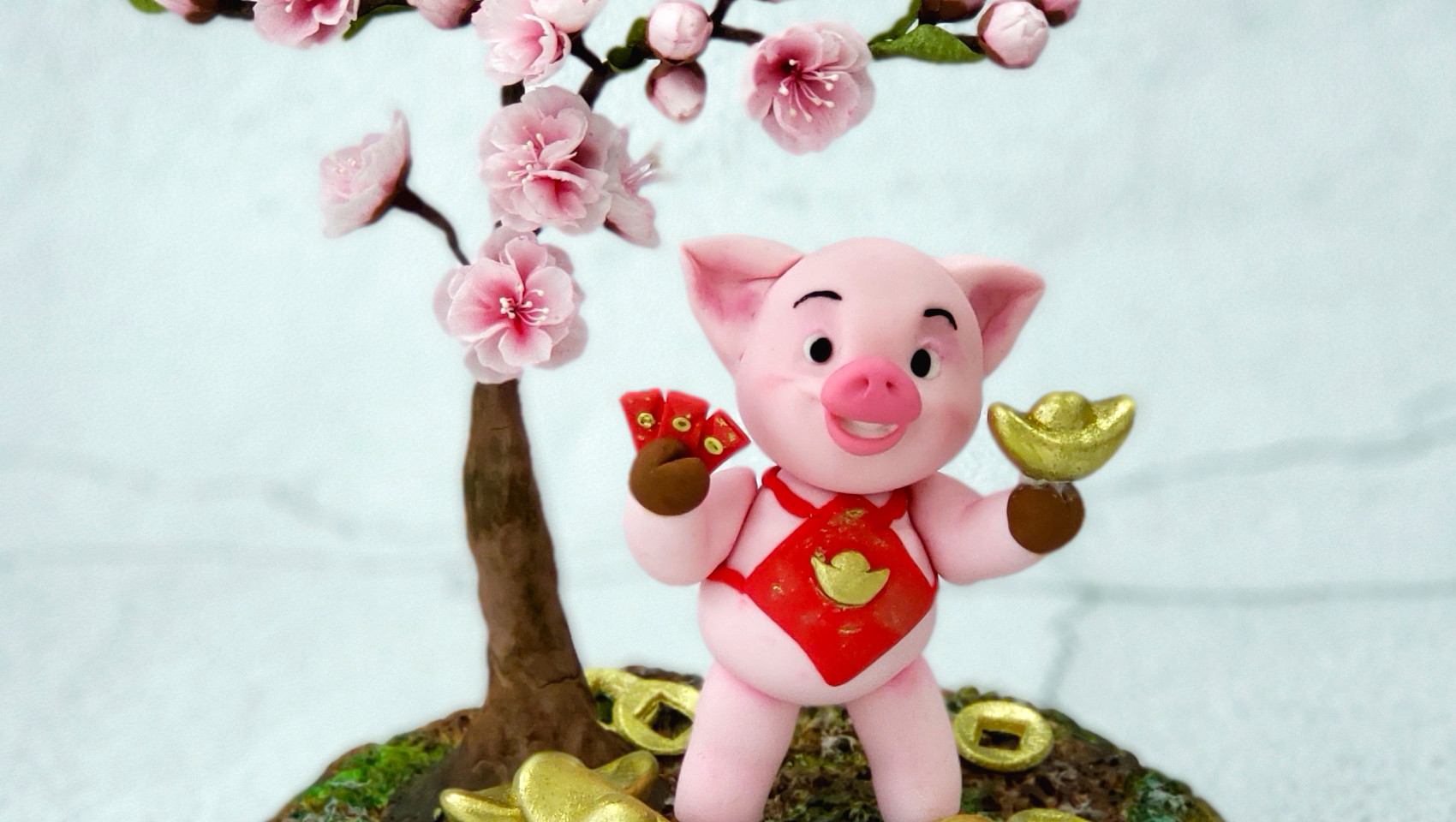 Piggy and Peach Tree