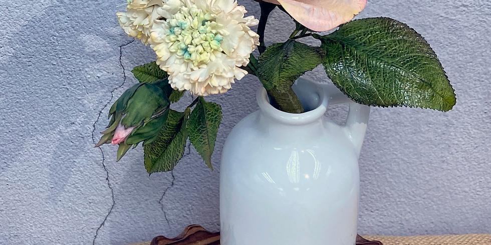 Rose & Scabiosa - Cold Porcelain Flower Class