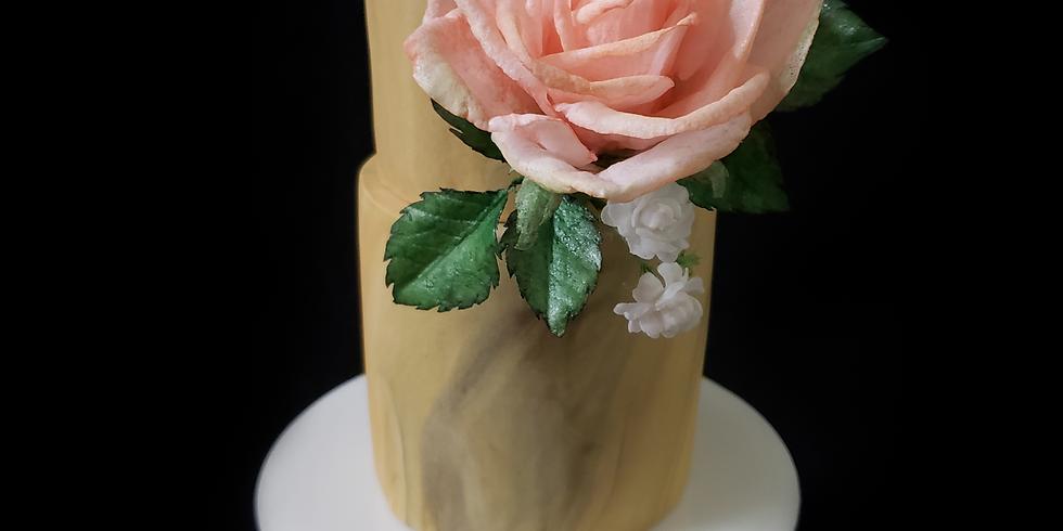 Rose & Jasmine - Wafer Paper Flowers
