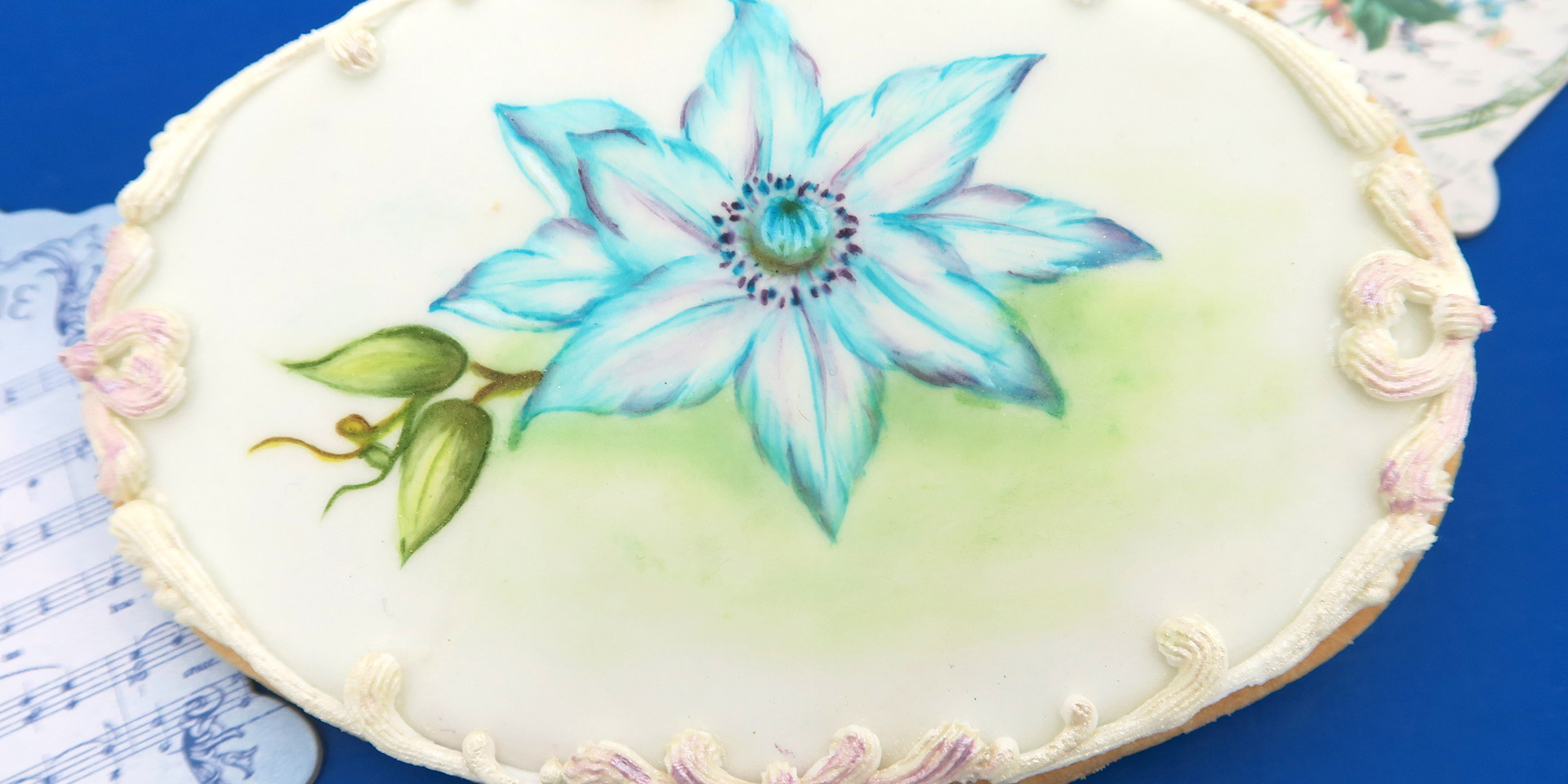 Clematis Painting Cookie