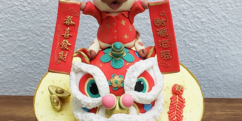 Lucky Ox on Chinese Lion Puppet