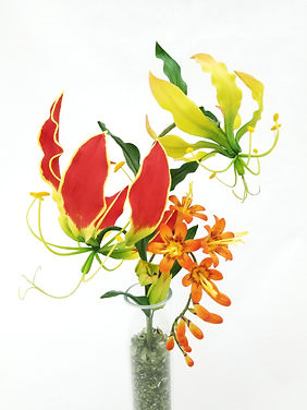 Sugar Gloriosa Lily & Crocosmia by Coe Woo
