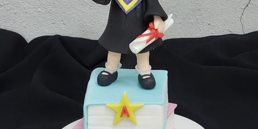 Graduation Girl - Cake Topper