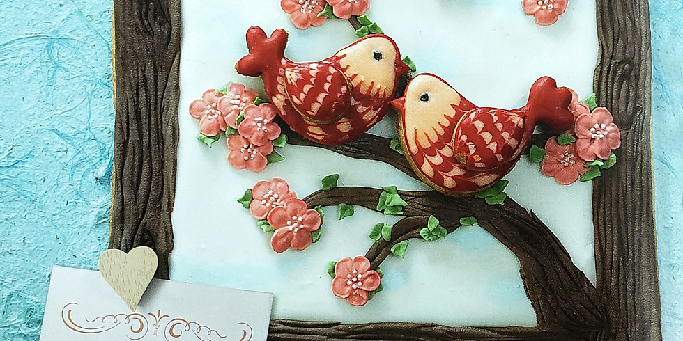 Love Birds - Icing Cookie