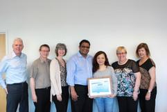 2014 Award Presentation at PME Headquarters.