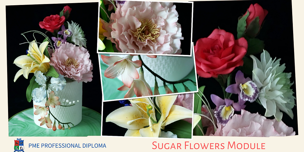 4-Day Sunday Course - PME Diploma - Sugar Flowers Module