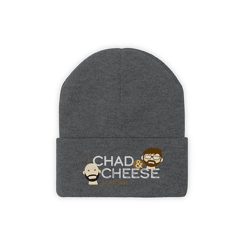 The Chad & Cheese Knit Beanie (embroidered)