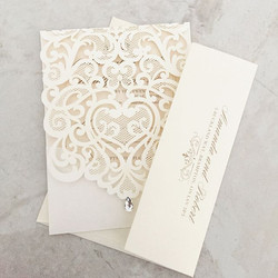 Laser Cut Wedding Invite