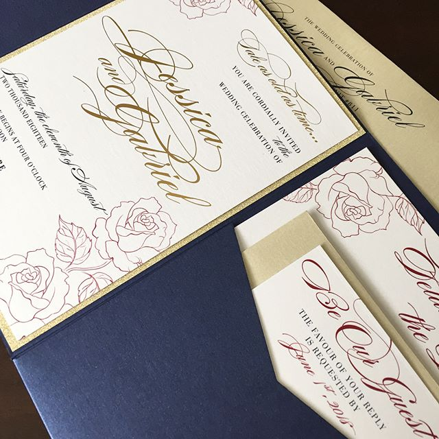 Wedding Pocket Gold Foiling