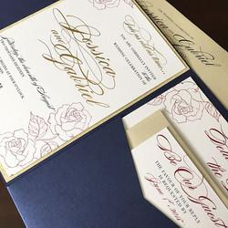 Wedding Pocket Gold Foiling