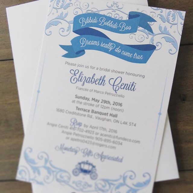 Modern Cinderella Bridal Shower