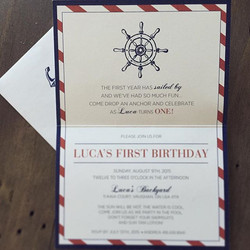 Nautical Birthday Invite