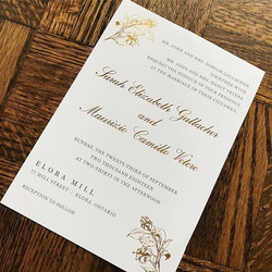 Gold Foiling Wedding