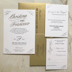 Wedding - Gold Foiling and Digital