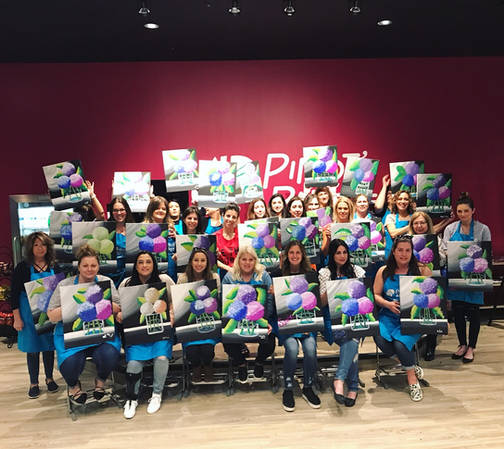 Ladies Wine and Paint Night at Pinot's Palette