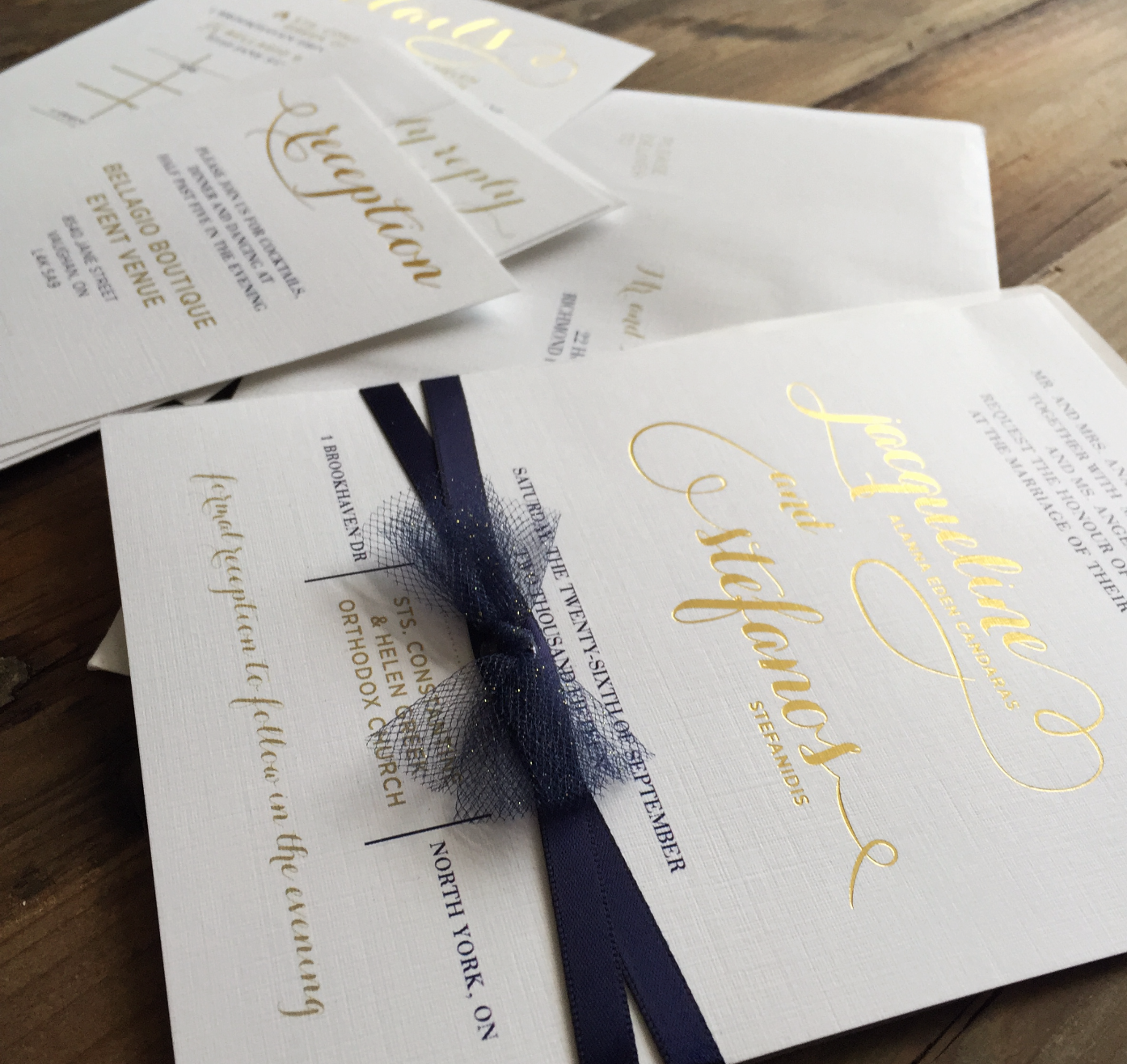 Digital and Foiling Wedding Invite