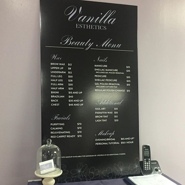 Small Business - Price List Board