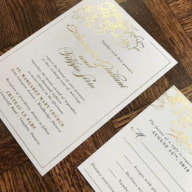 Digital Gold Foiling Wedding