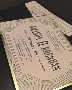 Wedding Reverse Pocket Invite
