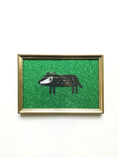 BADGER GLITTER GREEN