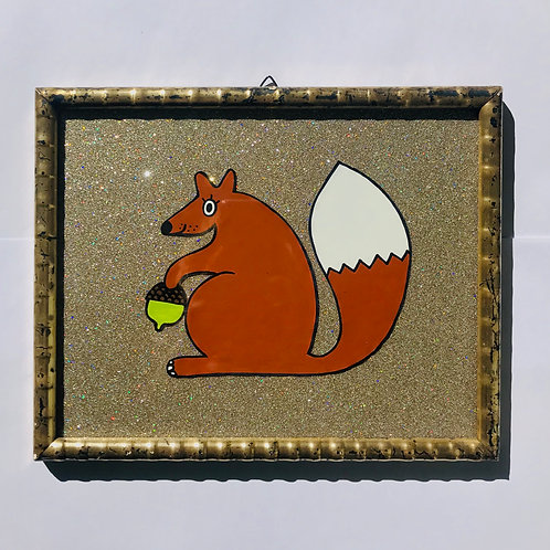 SQUIRREL GLITTER GOLD