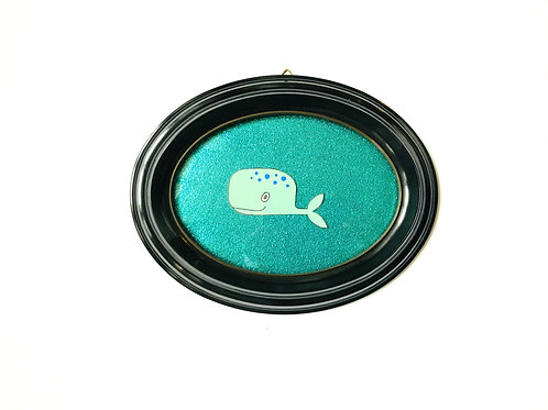WHALE GLITTER TURQUOISE