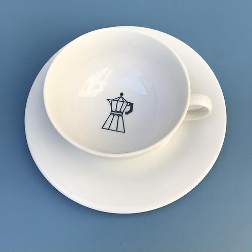 CUP ESPRESSOPOT NAVY BLUE