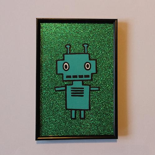 ROBOT GLITTER GREEN