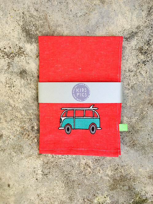 KITCHEN TOWEL RED/TURQUOISE