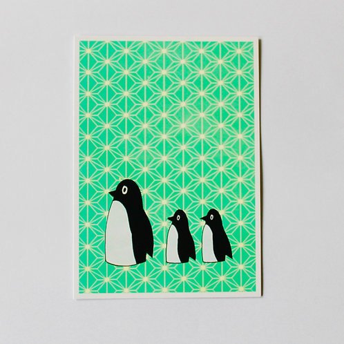 POSTCARD PINGUFAMILY