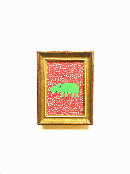 HIPPO FLOWERS RED/GREEN