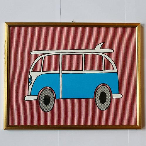 VW BUS OSHKOSH RED